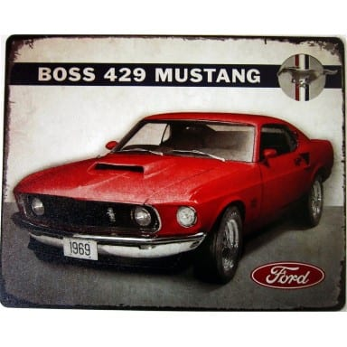 Ford Merchandise -1969 Mustang Boss 429 Sign