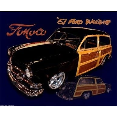 Ford Woodie Sign