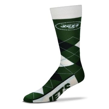 New York Jets Argyle Crew Cut Socks
