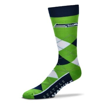 Seattle Seahawks Merchandise - Argyle Crew Cut Socks