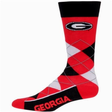 Georgia Bulldogs Argyle Crew Cut Socks