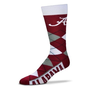 Alabama Crimson Tide Merchandise - Argyle Crew Cut Socks