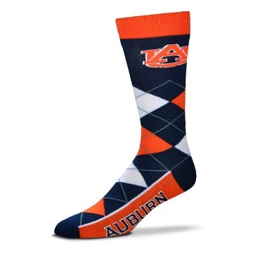 Auburn Tigers Merchandise - Argyle Crew Cut Socks
