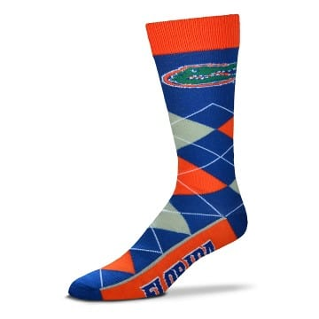 Florida Gators Argyle Crew Cut Socks