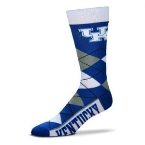 Kentucky Wildcats Argyle Crew Cut Socks