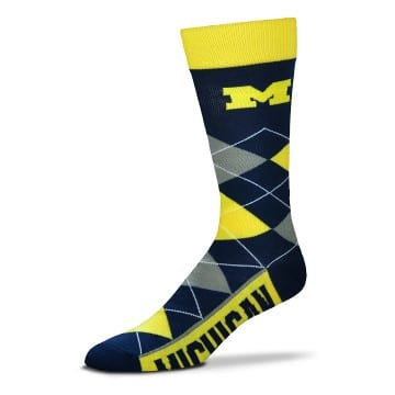 Michigan Wolverines Merchandise - Argyle Crew Cut Socks