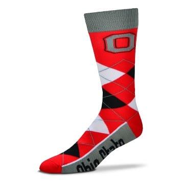 Ohio State Buckeyes Argyle Crew Cut Socks