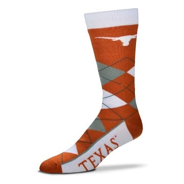 Texas Longhorns Argyle Crew Cut Socks