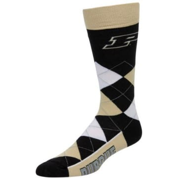 Purdue Boilermakers Argyle Crew Cut Socks