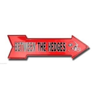 Georgia Between the Hedges Arrow Sign