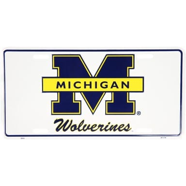Michigan Wolverines Merchandise - License Plate