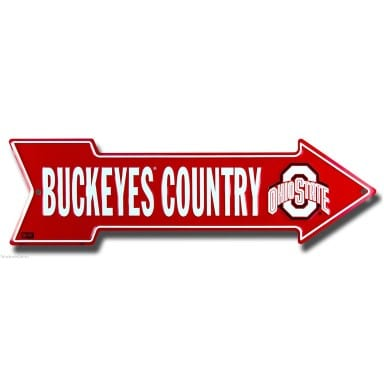 Ohio State Buckeyes Country Arrow Sign