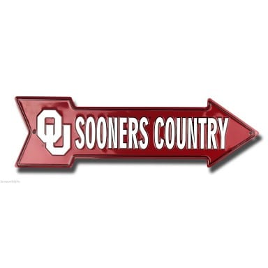 Oklahoma Sooners Merchandise - Country Arrow Sign