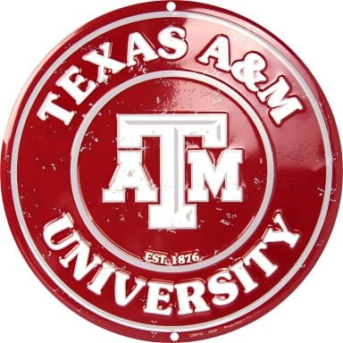 Texas A&M Aggies Circle Sign