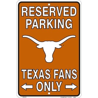 Texas Longhorns Merchandise - Parking Sign