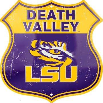 LSU Tigers Highway Sign