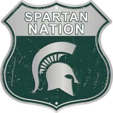 Michigan State Spartans Merchandise - Highway Sign