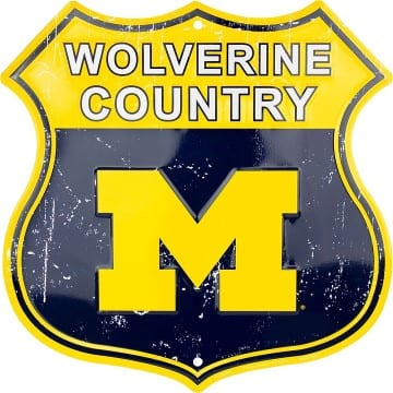 Michigan Wolverines Merchandise - Highway Sign