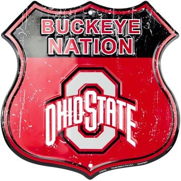 Ohio State Buckeyes Highway Sign