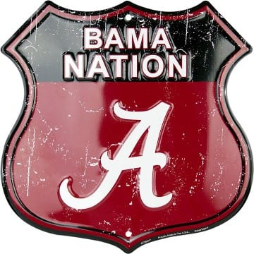 Alabama Crimson Tide Highway Sign