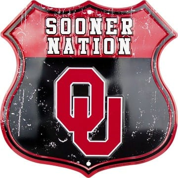 Oklahoma Sooners Merchandise - Highway Sign