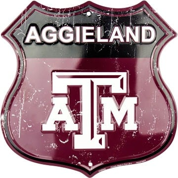 Texas A&M Aggies Highway Sign