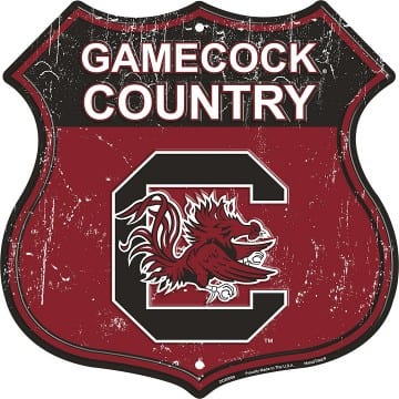 South Carolina Gamecocks Merchandise - Highway Shield Sign