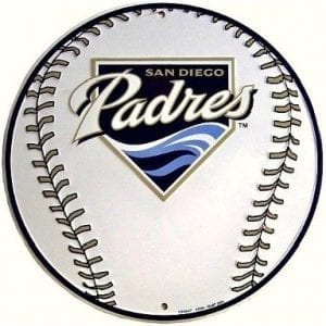 San Diego Padres White Circle Sign