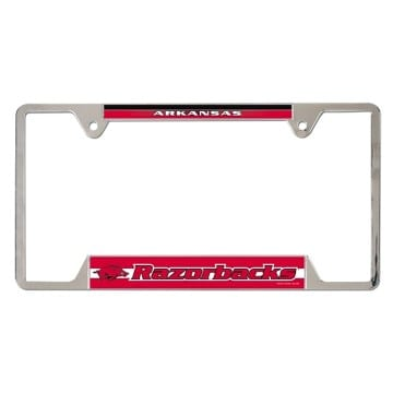 Arkansas Razorbacks Metal License Plate Frame