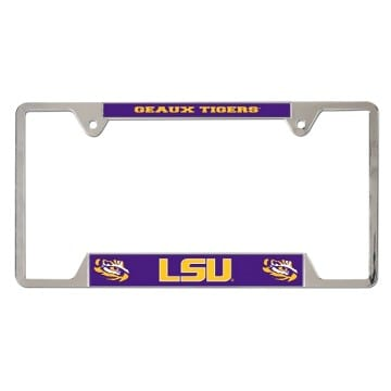 LSU Tigers Metal License Plate Frame