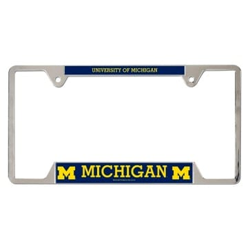 Michigan Wolverines Merchandise - Metal License Plate Frame