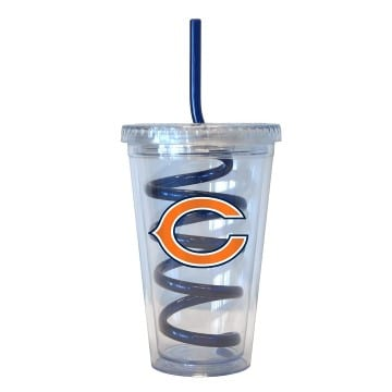 Chicago Bears Swirl Straw Tumbler