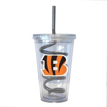 Cincinnati Bengals Swirl Straw
