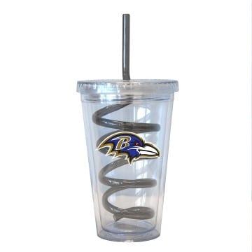 Baltimore Ravens Merchandise - Swirl Straw Tumbler