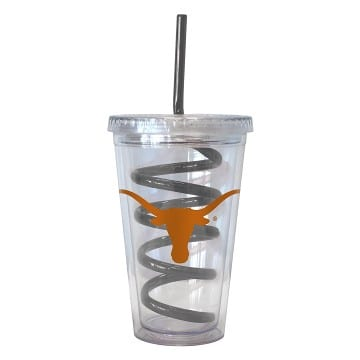 Texas Longhorns Swirl Straws