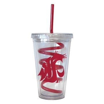 Washington State Cougars Swirl Tumbler