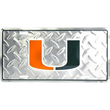 Miami Hurricanes Merchandise - Metal License Plate
