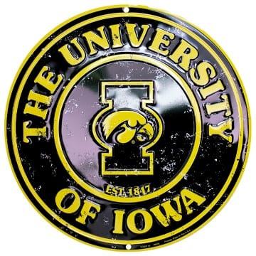 Iowa Hawkeyes Merchandise - Circle Sign