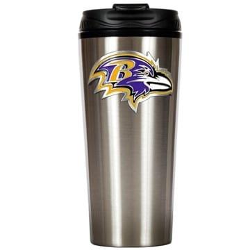 Baltimore Ravens Stainless Steel Travel Mug