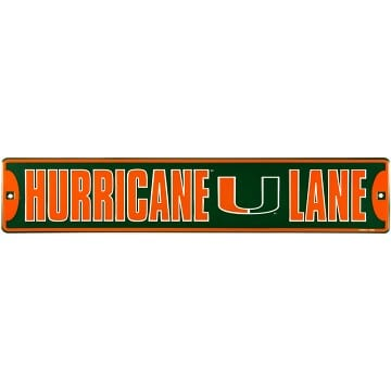 Miami Hurricanes Street Sign