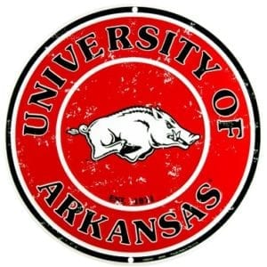 Arkansas Razorbacks Merchandise - Circle Sign