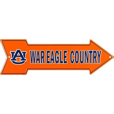 Auburn Tigers Arrow Sign