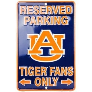Auburn Tigers Reserved Parking Sign