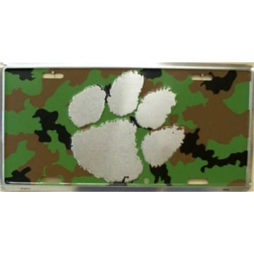 Clemson Tigers Merchandise - Camo License Plate