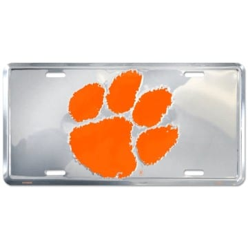 Clemson Tigers Merchandise - Chrome License Plate