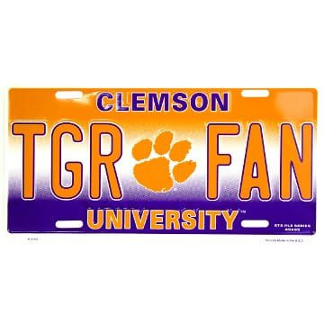 Clemson Tigers Merchandise - Metal License Plate