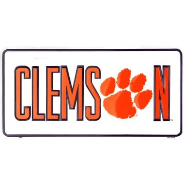 Clemson Tigers Metal License Plate