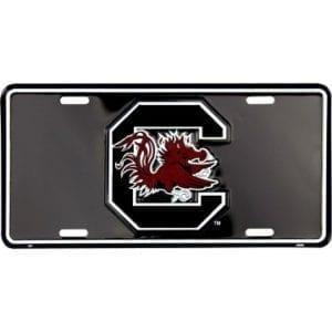 South Carolina Gamecocks Merchandise -Black License Plate