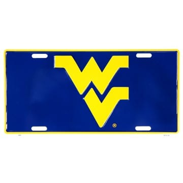 Auto Tag - West Virginia Mountaineers Blue