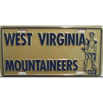 West Virginia Mountaineers Merchandise - Metal License Plate